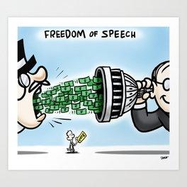Freedom of Speech Art Print