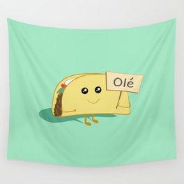 Happy Taco, Olé Wall Tapestry