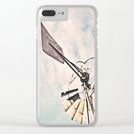 """Windmill Ruin"" by Murray Bolesta Clear iPhone Case"