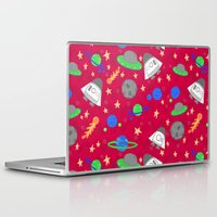 ships Laptop & iPad Skins featuring Space Ships by lindsey salles