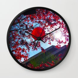 Red Lantan Wall Clock