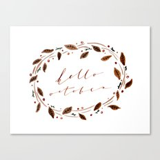Hello October! Canvas Print