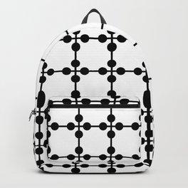 Droplets Pattern - White & Black Backpack