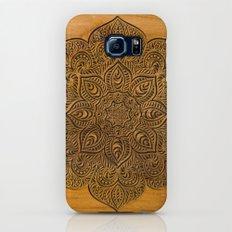 Wood Mandala Slim Case Galaxy S7