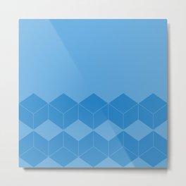 Abstract geometric pattern - blue. Metal Print