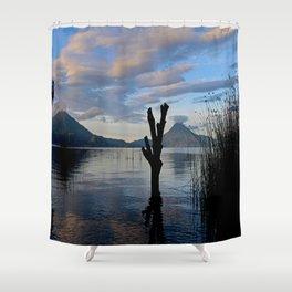 Sunrise at Lago Atitlan,Guatemala Shower Curtain