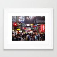 hong kong Framed Art Prints featuring Hong Kong  by JulesEllingon