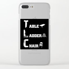Wrestling Extreme Rules Wrestler TLC Match Grapper Clear iPhone Case