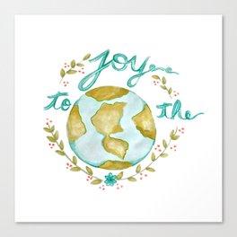 Joy to the World Christmas Canvas Print