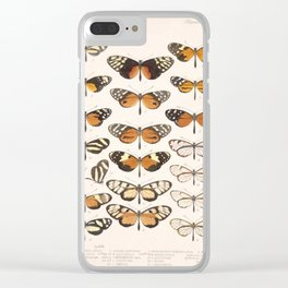 Vintage Scientific Hand Drawn Illustration Anatomy Of Butterfly Insect Patterns Biology Art Clear iPhone Case