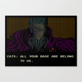 All your text are belong to us Canvas Print