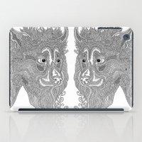 beast iPad Cases featuring Beast by Olya Goloveshkina
