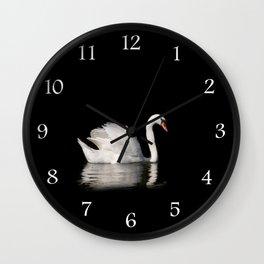 Mute Swan Cygnus olor at lake Wall Clock
