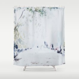 Blown Out Shower Curtain