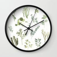 plants Wall Clocks featuring Plants  by Maggie Chiang