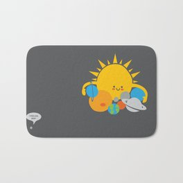 Hugs are for Planets Only Bath Mat