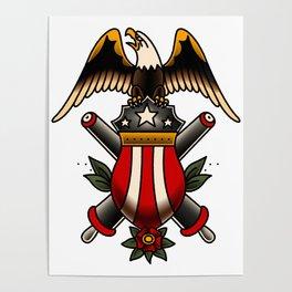 American Traditional Artillery Design Poster