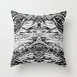 Demon  Samari Throw Pillow