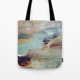 Gentle Beauty [5] - an elegant acrylic piece in deep purple, red, gold, and white Tote Bag