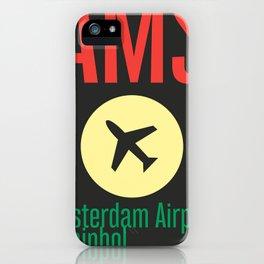 AMS Amsterdam Schiphol Airport sticker ff iPhone Case