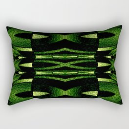 Stained Glass Collection VI Forest Green Rectangular Pillow