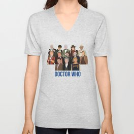 Doctor Who Through the Years Unisex V-Neck