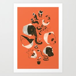 Cones of Shame (orange) Art Print