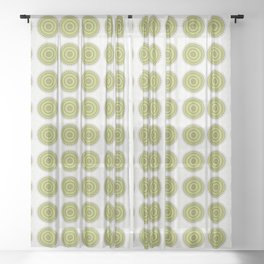 Whirlwind mandala Sheer Curtain