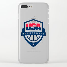 USA basketball logo Clear iPhone Case