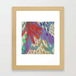 Funky Abstract Digital Painting Framed Art Print