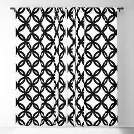 Flowers coins Black and white WB Blackout Curtain