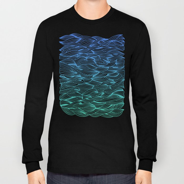 Ombré Waves Long Sleeve T-shirt