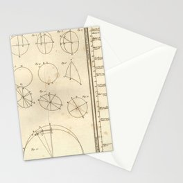 Jérôme Lalande's Astronomie (1771) - Geometric Calculations regarding Planetary Bodies 7 Stationery Cards