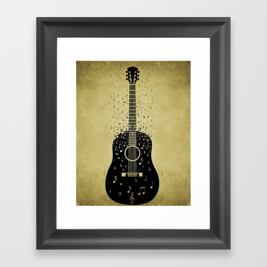 Musical ascension Framed Art Print