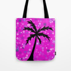 Palm Tree and Snowflakes Tote Bag