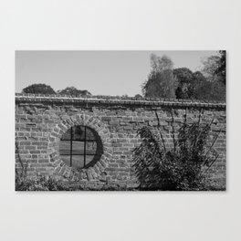 Round Window bw Canvas Print