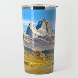 Snowy Andes Mountains, El Chalten, Argentina Travel Mug