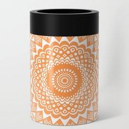 Orange Tangerine Mandala Detailed Textured Minimal Minimalistic Can Cooler