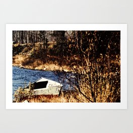 The old rowboat Art Print