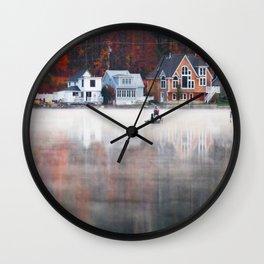 Foggy Fishy Morning Wall Clock