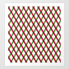 Holiday Ribbon Pattern Art Print
