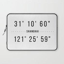 Shanghai Coordinates Minimalistic Laptop Sleeve
