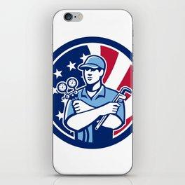 American Air-Con Serviceman USA Flag Icon iPhone Skin
