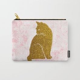 Rose Gold Cat Carry-All Pouch