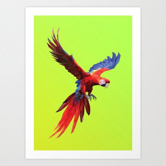 Poly Macaw Art Print