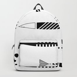 Line of fish Backpack