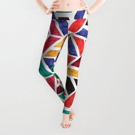 Seamless Colorful Geometric Pattern X Leggings