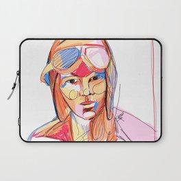 Amelia Earhart by Aitana Pérez Laptop Sleeve