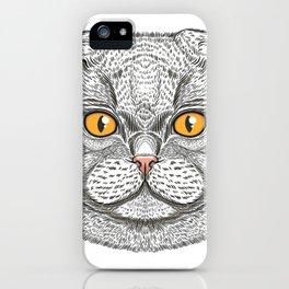 Scottish Fold cat iPhone Case