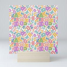 Chaos of letters 1 Mini Art Print